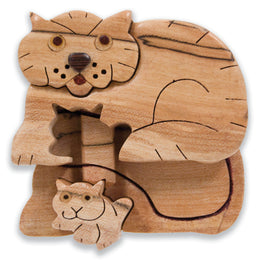 Cat Miniature Puzzle Box