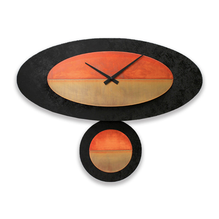 Stand-Alone Oval - Black & Copper