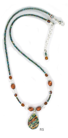 Sea of Glass Simple Beaded Necklace