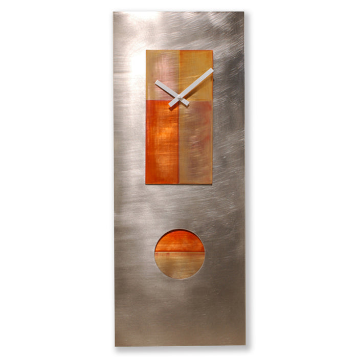 Steel & Copper Pendulum Clock 30
