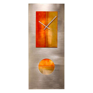 Steel & Copper Pendulum Clock