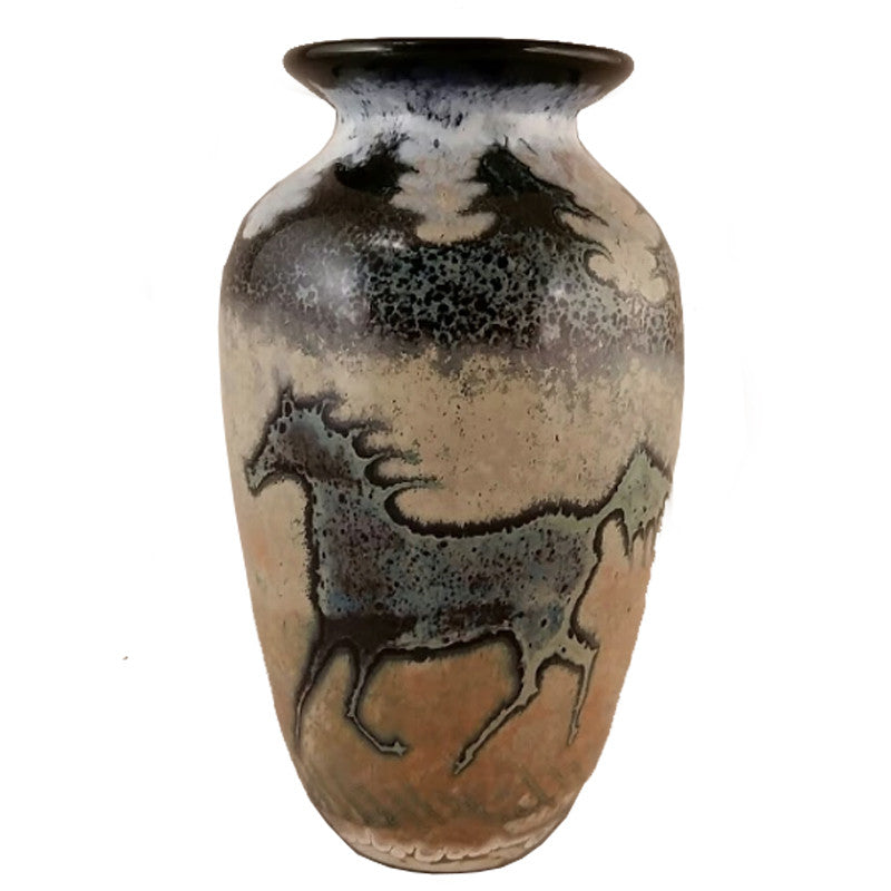 Traditional Horse Glass Vase Anamericancraftsman
