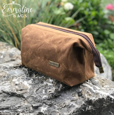 Field Tan Army Duck Waxed Canvas Retreat Bag kit Emmaline Bags