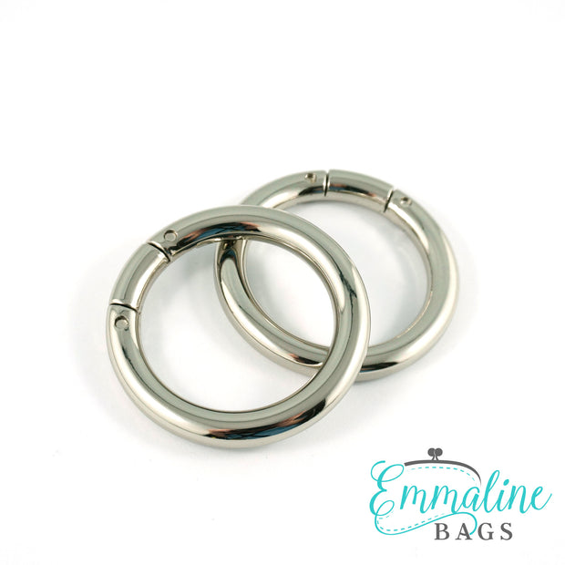 "Gate Rings (Screw Together):  1 1/4"" (32 mm) in Nickel Finish (2 Pack)"