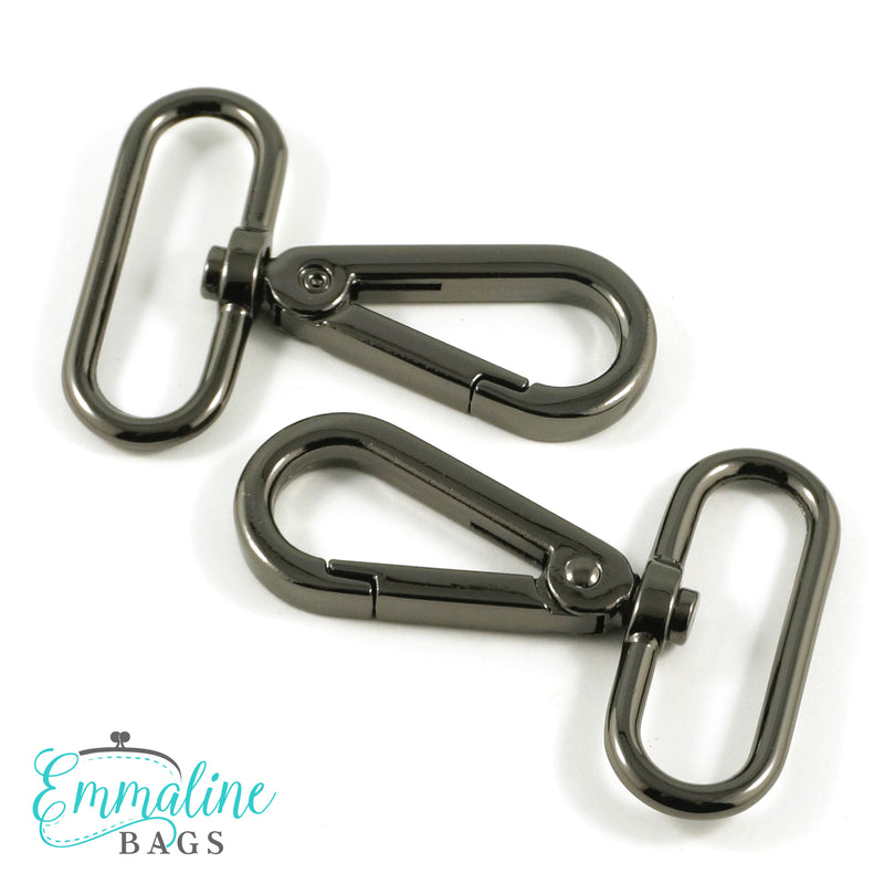 Swivel Snap Hooks:  Flat Hook Profile (2 Pack)