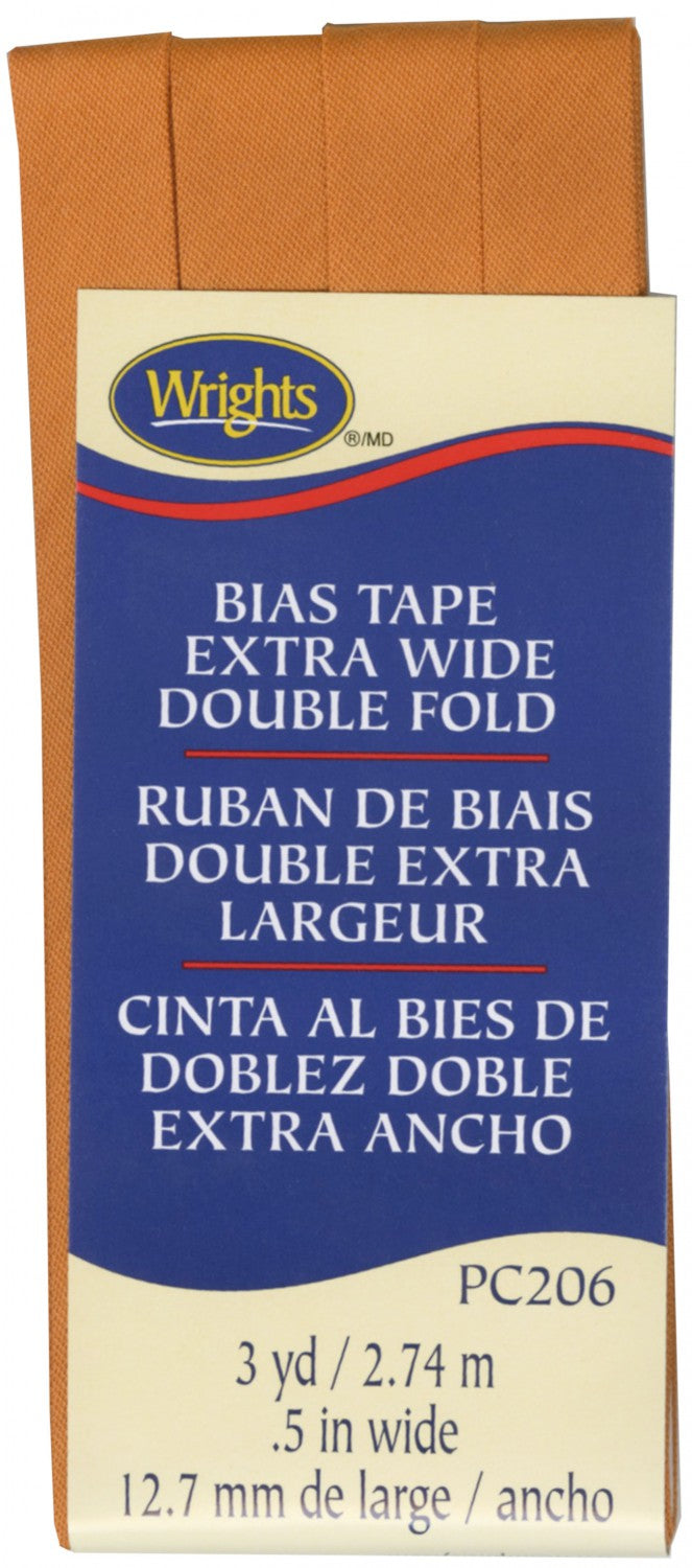 "Extra Wide Double Fold Bias Tape 1/2"" (12 mm)"