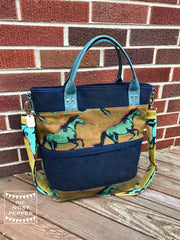 The Waterlily Waxed Canvas Tote by Blue Calla Sewing Patterns (Printed Paper Pattern)