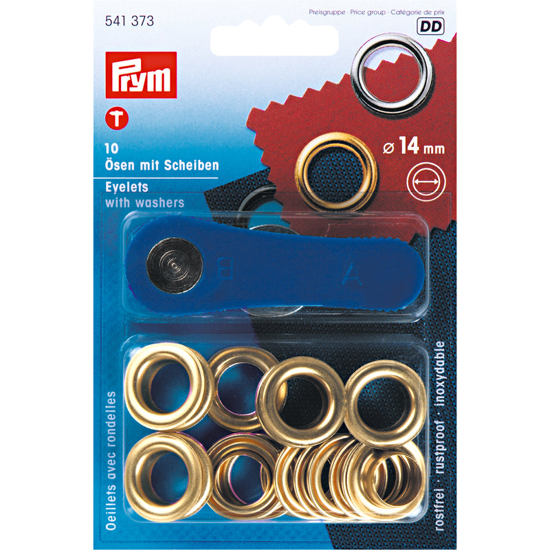 "Eyelets 14 mm (9/16"") with washers (10 pack)"