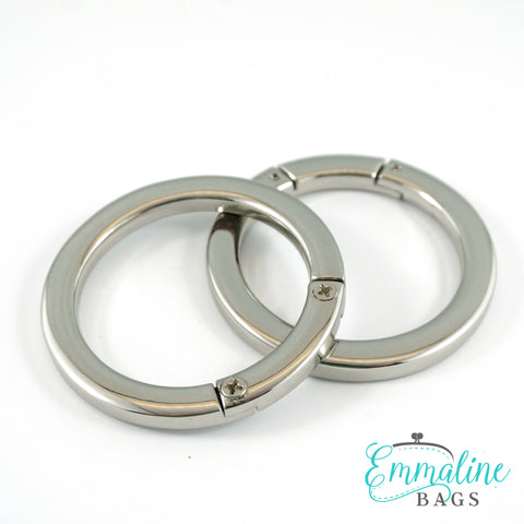 "Gate Rings (Screw Together):  1 1/2"" (38 mm) in Nickel Finish (2 Pack)"