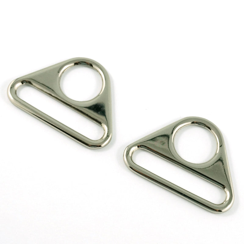 "Triangle strap rings 1 1/2"" in nickel"