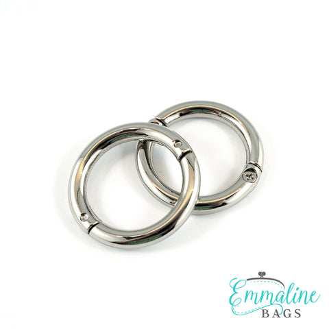 "Gate Rings (Screw Together):  1"" (25 mm) in Nickel Finish (2 Pack)"