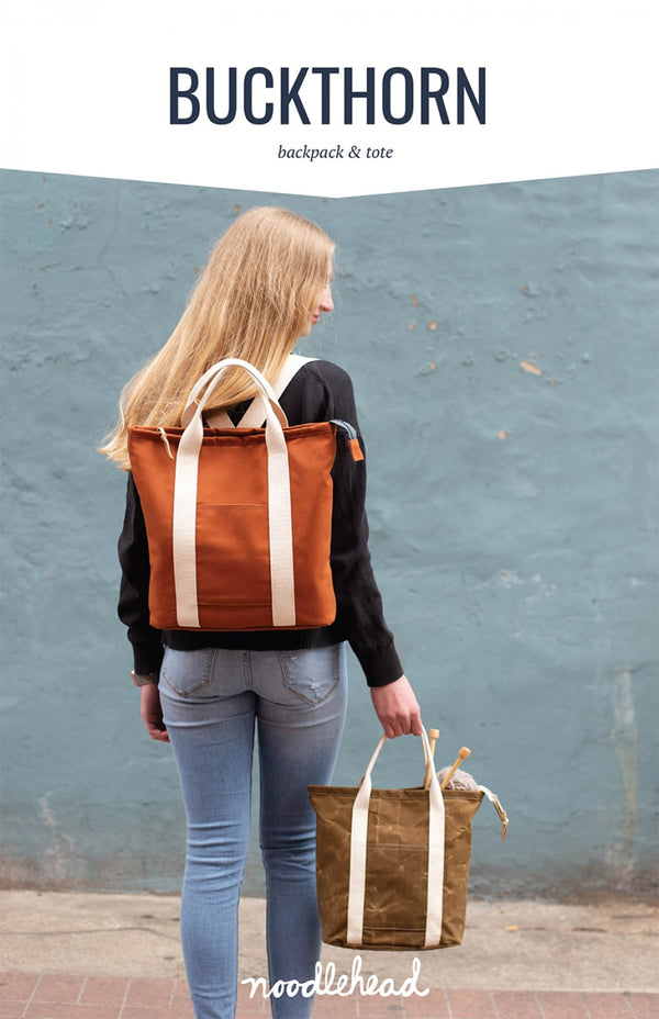 Buckthorn Backpack & Tote by Noodlehead (Printed Paper Pattern)