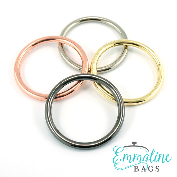 "O-Rings: 1-1/2"" (38 mm) x 4mm in 5 Finishes (4 Pack)"