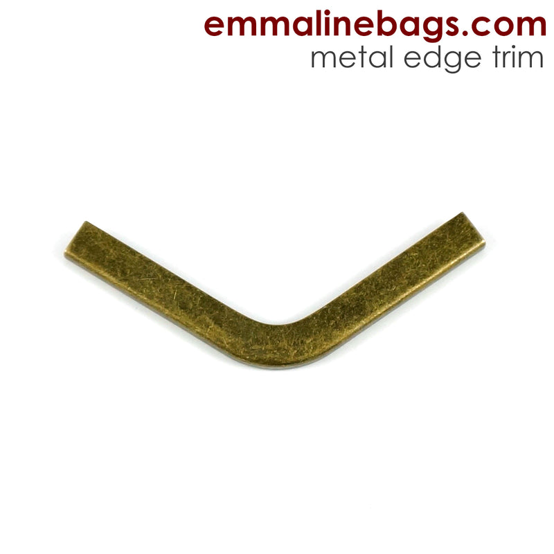 Metal Edge Trim: Style C - Small Pointed - in Antique Brass Finish
