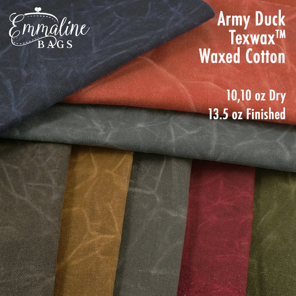 Army Duck Waxed Canvas - 13.5 oz/square yard - TexWax™ Finish