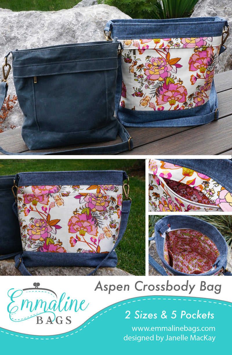 PDF - The Aspen Crossbody Bag (2 Sizes)