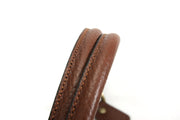 "Handbag & Tote Bag Handles: 18.2"" Embossed Rolled Leather (1 Pair)"