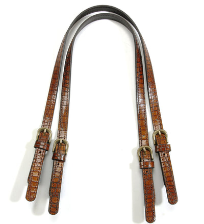"Shoulder Bag Straps: 28"" Genuine Leather (2 Straps)"