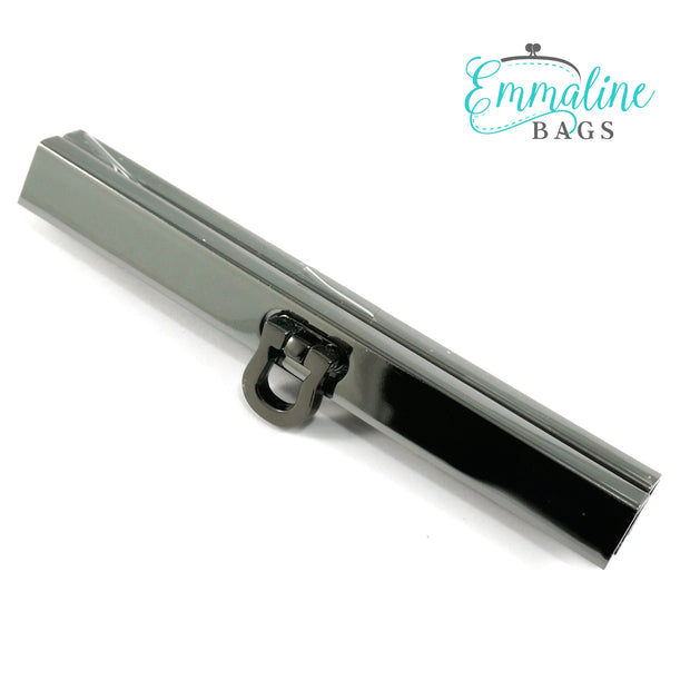 "Wallet Closures (Bar Channel Lock with Flip Clasp) 4 1/2"" wide (5 finishes to choose from)"