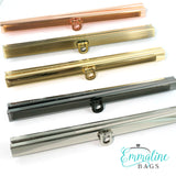 "Wallet Closures (Bar Channel Lock with Flip Clasp) 7 1/2"" wide (5 finishes to choose from)"