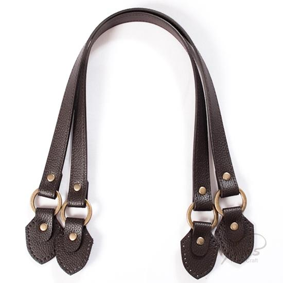 "Shoulder Bag Straps: 23"" Synthetic Leather (1 Pair) - With Riveted Tabs."