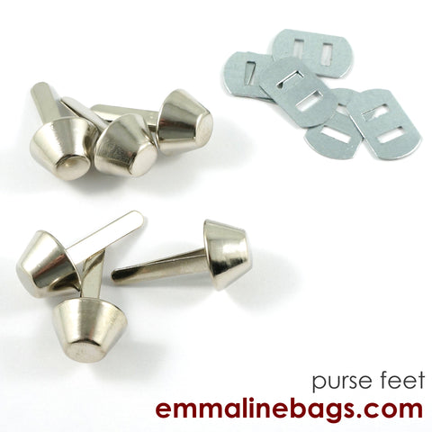 "BUCKET Purse Feet: 9/16"" (14 mm) in 6 Finishes"