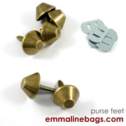 "BUCKET Purse Feet: 3/4"" (18 mm) (6 pack)"