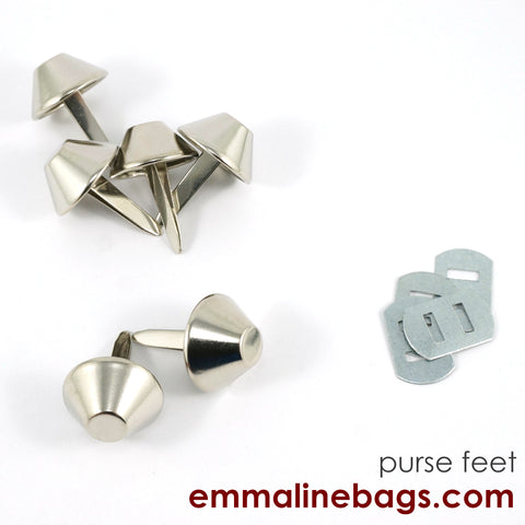 "BUCKET Purse Feet: 3/4"" (18 mm) in 6 Finishes"