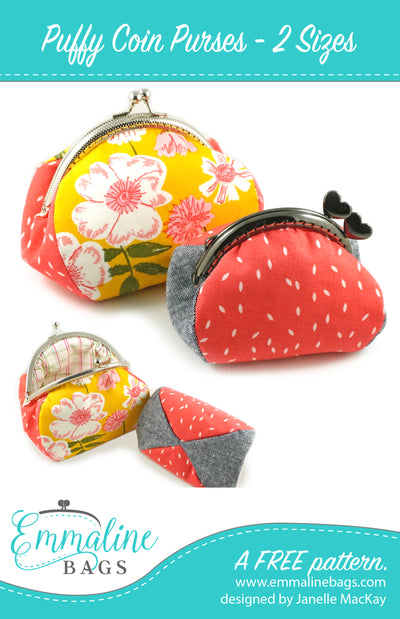 PDF - Puffy Coin Purses  - A Free Pattern