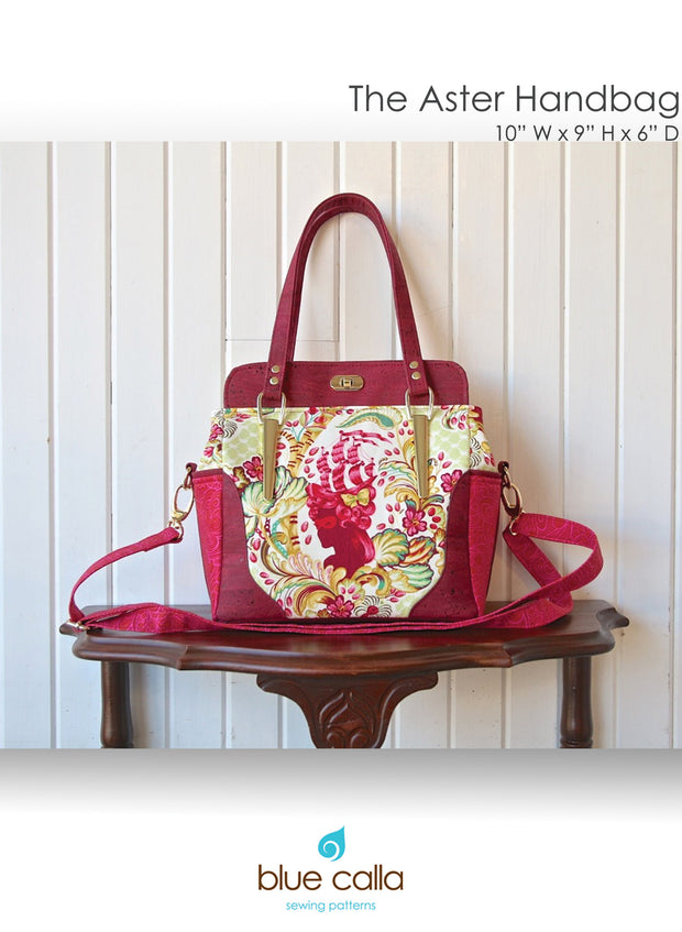 The Aster Handbag by Blue Calla Sewing Patterns (Printed Paper Pattern)