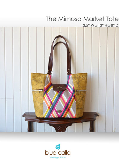 The Mimosa Market Tote by Blue Calla Sewing Patterns (Printed Paper Pattern)