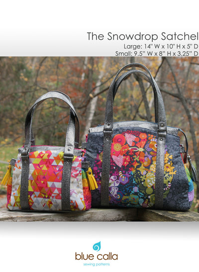 The Snowdrop Satchel by Blue Calla Sewing Patterns (Printed Paper Pattern)