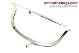 "Curved Purse Frame 6"" - Nickel"