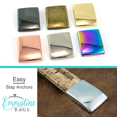"Strap Anchor: ""Easy Strap Anchors"" for 1"" straps - in 6 Finishes (4 Pack)"