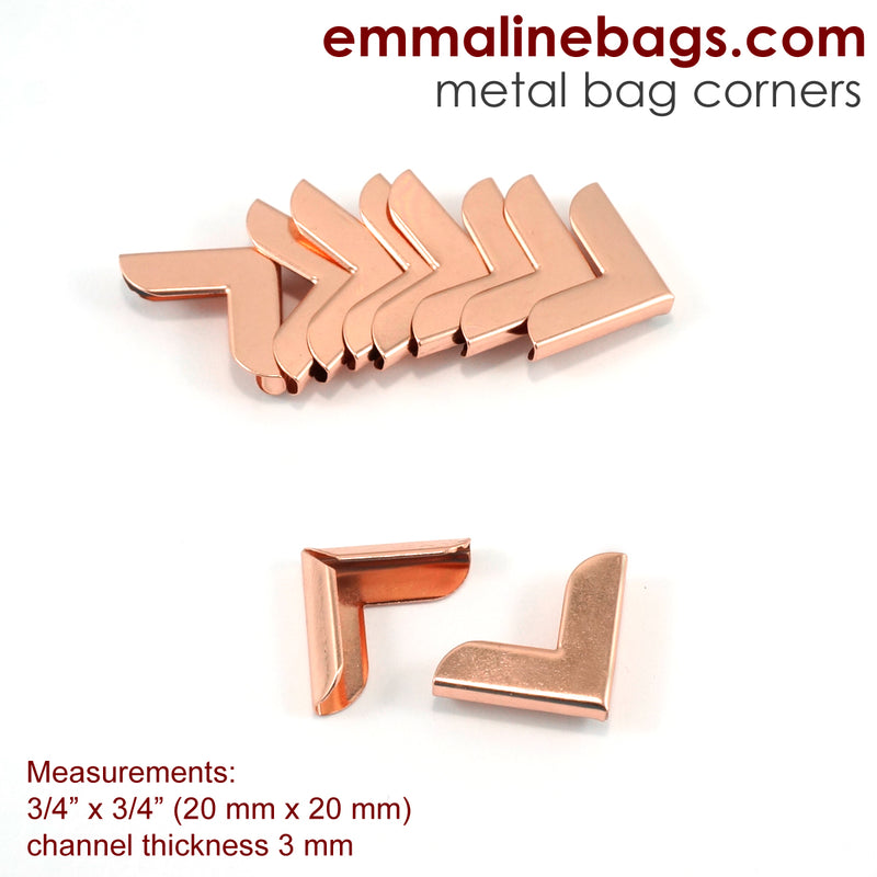 "Metal Corners for Purses 3/4"" x 3/4"" (10 Pack)"