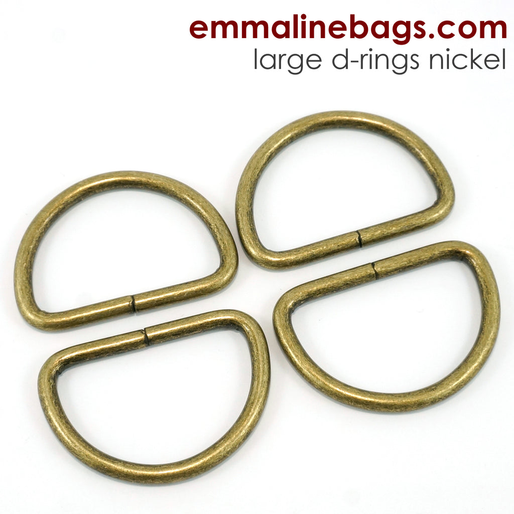 """SLIGHT TARNISH NICKEL PLATED OVAL BUCKLES FOR 1/"""" STRAP 25mm CLEARANCE"""