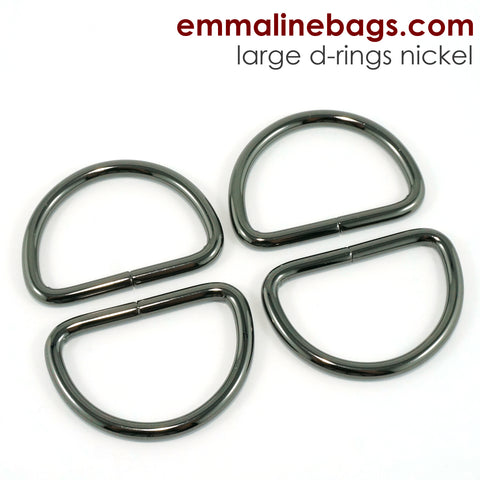 "D-Rings: 1-1/2"" (38 mm) in Gunmetal (4 Pack)"