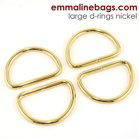 "D-Rings: 1-1/2"" (38 mm) in Gold (4 Pack)"