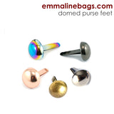 "DOMED Purse Feet: 1/2"" (12 mm) (6 Pack)"