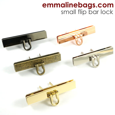 Small Bar Lock with Flip Closure