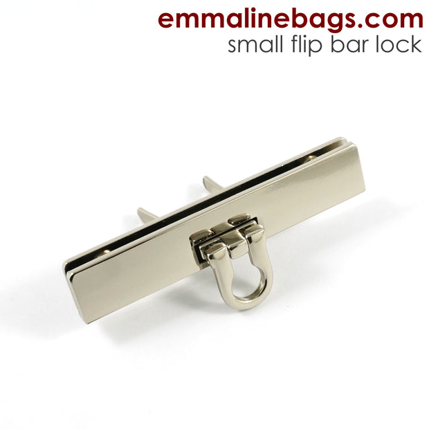 Small Bar Lock with Flip Closure in 5 Finishes