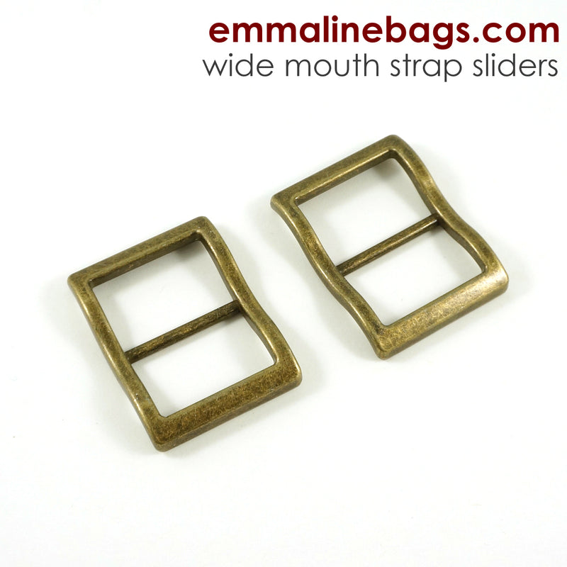 Wide Mouth Strap Sliders - (Extra Wide) For thicker straps (2 Pieces)