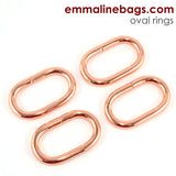 "OVAL O-Rings: 1-1/4"" (34 mm)  in 3 Finishes! (4 Pack)"