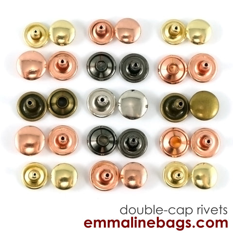 Double Cap Rivets: 3 Sizes & 5 Finishes Available (50 Packs) 5.00 - 7.39