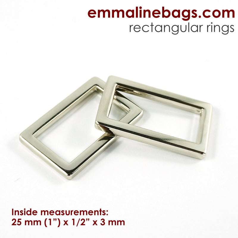 Flat Rectangular Rings (4 Pack)