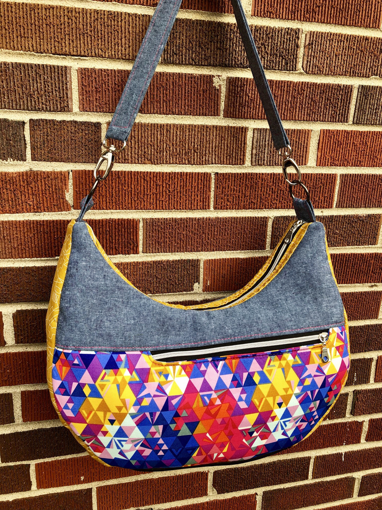 The Honeysuckle Hobo bag by Blue Calla Sewing Patterns (Printed Paper Pattern)
