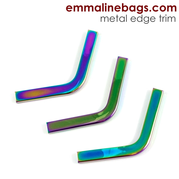 Metal Edge Trim: Style C - Small Pointed - in Iridescent Rainbow Finish