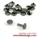 Double Cap Rivets: 3 Sizes & 5 Finishes Available (5.00 - 9.99)