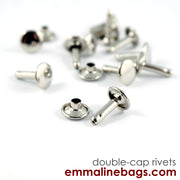 Double Cap RIVETS: 3 Sizes & 6 Finishes Available (5.00 - 9.99)