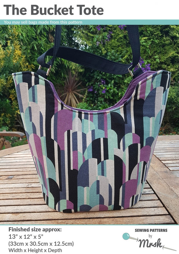 The Bucket Tote by Sewing Patterns by Mrs H (Printed Paper Pattern)